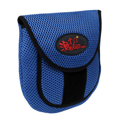 2pcs Mesh Fly Fishing Reel Storage Bag Protective Cover Case Pouch Blue
