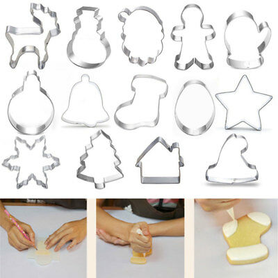 Stainless Steel Christmas Mould Tree Snowman Cookie Cutter Mold For Party x 1