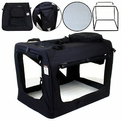 Folding Fabric Dog Crate Carrier Cat Puppy Travel Cage Portable Foldable Bag