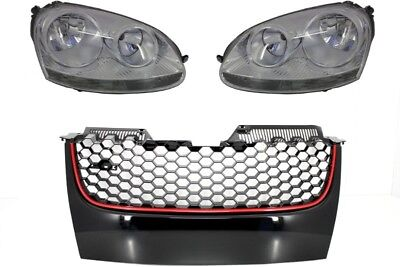 Headlights For  VW Golf V 5 03-07 OEM Head Lamps Lights LHD+ Front Grill GTI Des