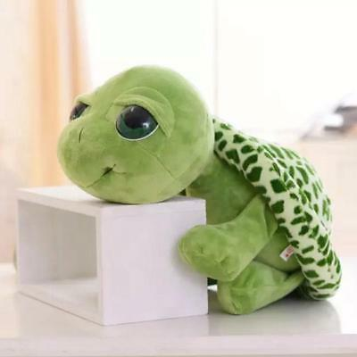 Big Eyes Green Tortoise Doll Turtle Stuffed Plush Animal Baby Kids Gift Toy - FI