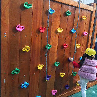10pcs Plastic Colorful Climbing Rock Wall Stones Kids Assorted Childrens Holds