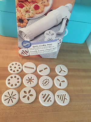 WIlton Cookie Max Cookie Press 12 cookie Discs  Replacement Parts Only SHIP FAST