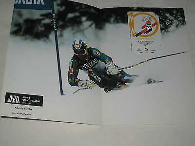 Alta Badia Alpine Ski World Cup 1996 Alberto Tomba In Folder