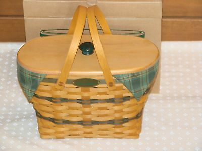 TRADITIONS Collection FELLOWSHIP Basket SET Longaberger Includes Wood LID *NEW*