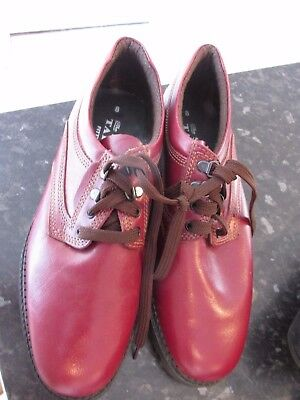 The Shoe Tailor  Mens Tan Leather Lace Up Shoes Size 8 Worn Once Hard Wearing