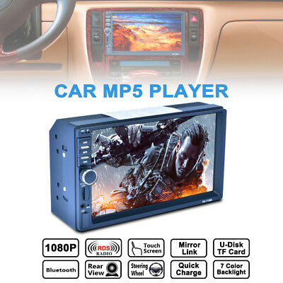 7'' 2 DIN Bluetooth HD Touch Screen Car Stereo Radio MP5/MP3 Player FM/USB/AUX