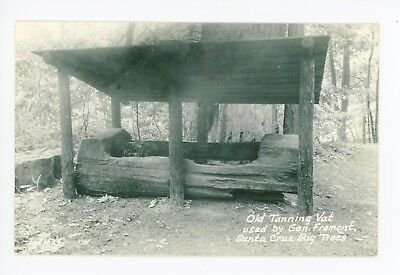 Tanning Vat—Santa Cruz CA RPPC Vintage General Fremont Photo ca. 1940s