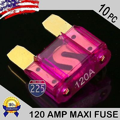 15 Pack of Assorted//Breakable Amp Maxi Fuses Large Blade Style Audio for Car RV