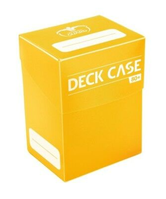 Deck Case 80+ Standard Size - Yellow Ultimate Guard Card Case New UGD010260