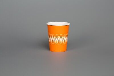 Party PAPER CUPS ORANGE 200 x 8oz 12oz Cold Hot Drinks Sip LIDS