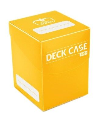 Deck Case 100+ Standard Size - Yellow Ultimate Guard Card Case New UGD010304