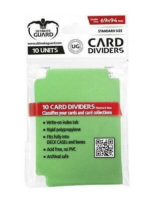 Card Dividers Standard Size - Green Ultimate Guard Card Dividers New UGD010357