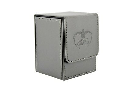 Flip Deck Case 100+ Standard Size Leatherette - Grey Ultimate Guard New