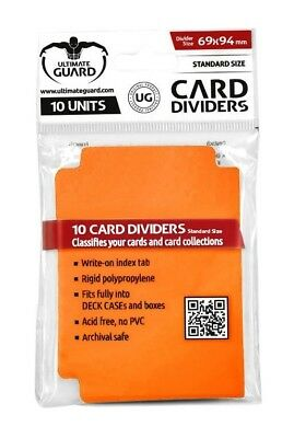 Card Dividers Standard Size - Orange Ultimate Guard Card Dividers New UGD010455