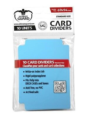 Card Dividers Standard Size - Light Blue Ultimate Guard Card Dividers Brand New