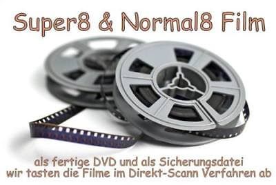 Super 8 auf DVD / 45m / Super8 / Normal 8 / N8 / S8 / Schmalfilme digitalisieren