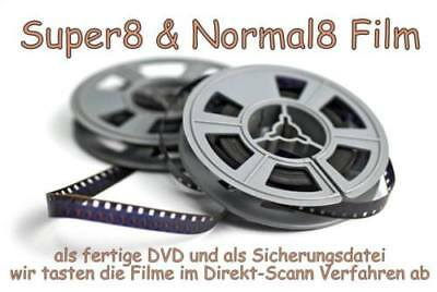 Super 8 auf DVD / 60m Film / Super8 / N8 / S8 / Schmalfilm / Filmtransfer