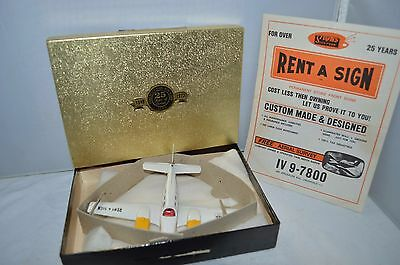 Dinky Toys 715 Beechcraft C55 Baron plane boxed RARE PROMOTINAL RENT A SIGN
