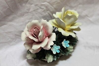 Nuova Capodimonte I.I.E. Exclusive Large Pink Rose figurine décor Made in Italy