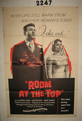 Room at the Top Original 1sh Movie Poster 1959 Laurence Harvey loves Heather