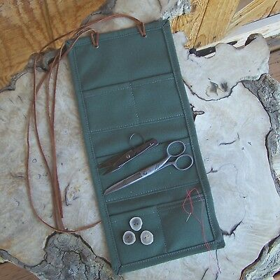 Handmade Canvas Mountain Man Sewing Kit