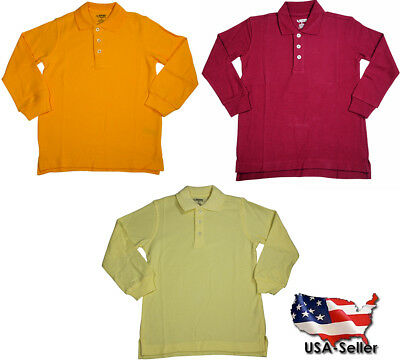 French Toast School Uniform Unisex Long Sleeve Pique Polo Shirt (Toddlers)