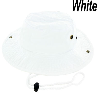 0b3d52c9449483 Mens Boonie Bucket Hat Cap Cotton Fishing Hunting Safari Summer Military  White