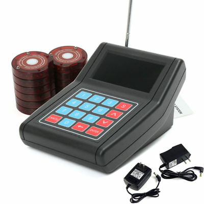 DC 12V Speed Wireless Restaurant Coaster Pagers Guest Calling Paging Queuing Sys