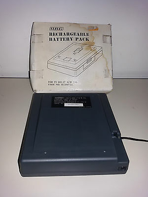 "GBC Ricaricatore RECHARGEABLE BATTERY PACK Televisori TV VINTAGE 7"" B/N Ricambio"