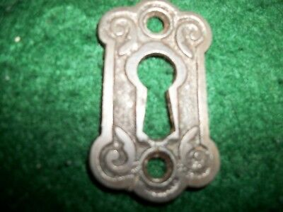 STEEL-Antique Vintage Fancy Cast Iron Eastlake Victorian Key Hole Keyhole Cover