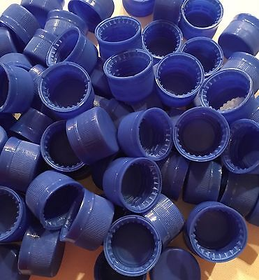 20 Unused Blue Plastic Soda Bottle Caps - Plastic Screw Caps