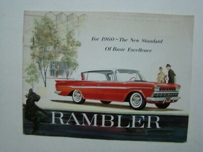 Rambler Car Brochure Rebel & Ambassador American Motors 1960