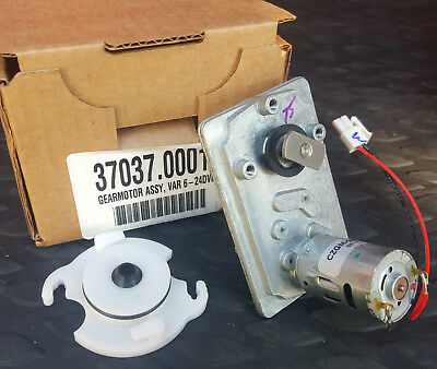 BUNN GEAR MOTOR ASSY 37037.0001 NEW OEM **FREE Receptacle W O-ring/shaft seal**