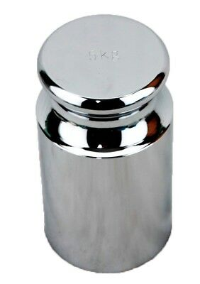 5 KG Cylindrical Chrome Calibration Weight - Scratch and Dent