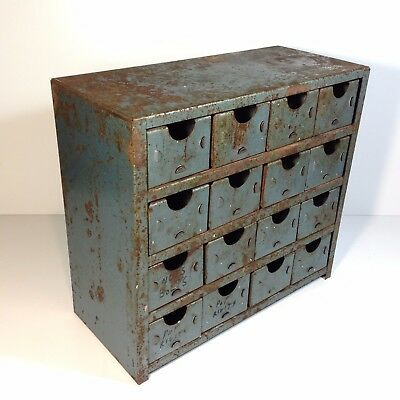 Vintage Industrial All Metal Parts Drawers