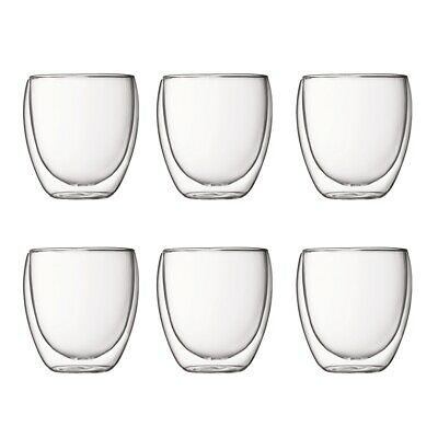 Bodum Pavina 250ml Double Wall Glass Set of 6 Brand New