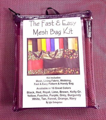 Fast and Easy Burgundy Mesh Bag Kit