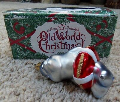 Merck's Old World Ornament Dolphin in Lifesaver Christmas Ornament Box Inge-Glas