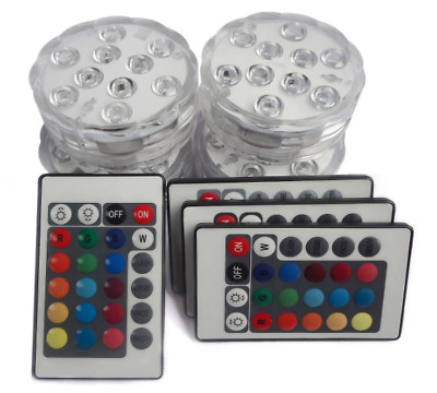 Swimming Pool Light LED RGB Underwater Remote Control Color Multicolor Vase 4PK