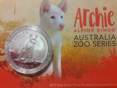 "New 2017 ""ARCHIE - ALPINE DINGO"" Australia Zoo Series Coin in Card"