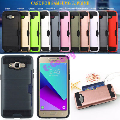 Brushed Rugged Armor Cover Skin Phone Case for Samsung Galaxy J2 Prime SM-G532F
