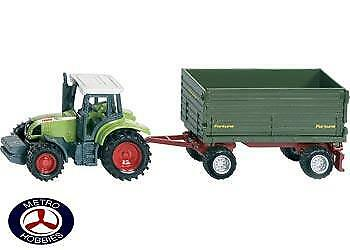 Siku Tractor with 2 axle Trailer SI1634 Brand New