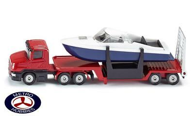 Siku Low Loader with Boat SI1613 Brand New
