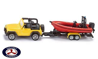 Siku Jeep with Boat SI1658 Brand New