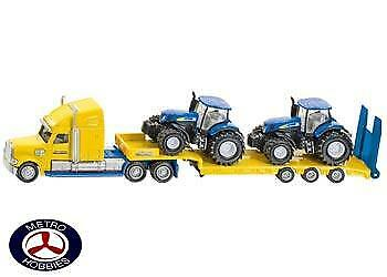 Siku Truck with 2 New Holland Tractors SI1805 Brand New