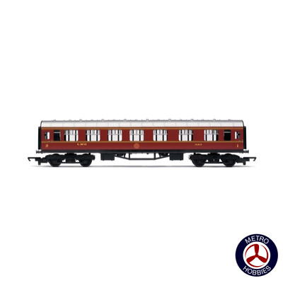 Hornby Railroad OO LMS Composite Coach HOR-R4388 Brand New