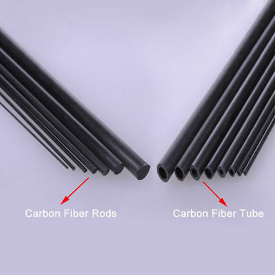 Carbon Fiber Tube & Rods Round 1.8mm 2mm 3mm 6mm For RC Airplane You Pick Sizes