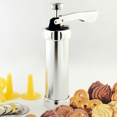 20 Moulds + 4 nozzles /24 kinds Biscuit Cookie Making Maker Pump Press Machine