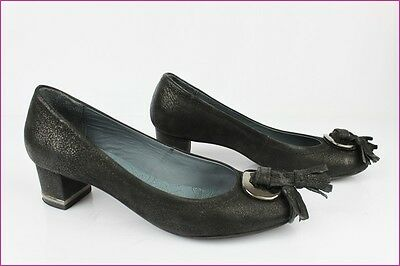 Court Shoes Pedro Miralles Black Leather T 38 Very Good Condition
